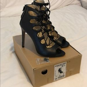 Zara lace up leather Heels
